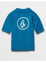 Volcom Volcom Kids, Little Boys Lido True Blue Short Sleeve UPF 50 Rashguard