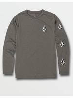 Volcom Volcom Kids, Little Boys Deadly Stones Grey Long Sleeve UPF 50 Rashguard