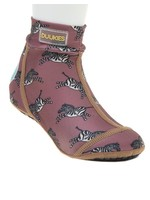 Duukies Duukies, Beach Socks in Zebra Raspberry