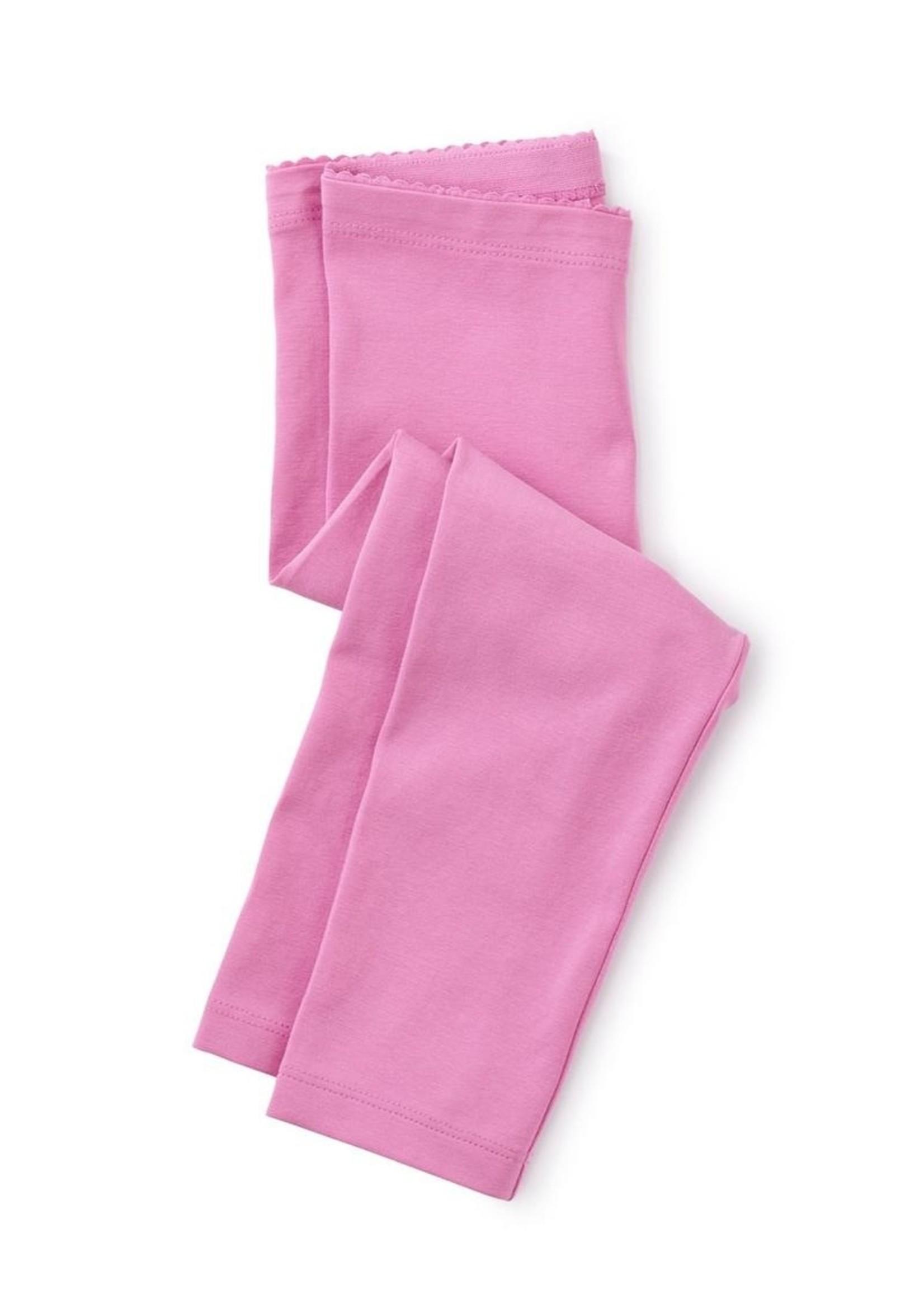 Tea Collection Perennial Pink Solid Capri Leggings