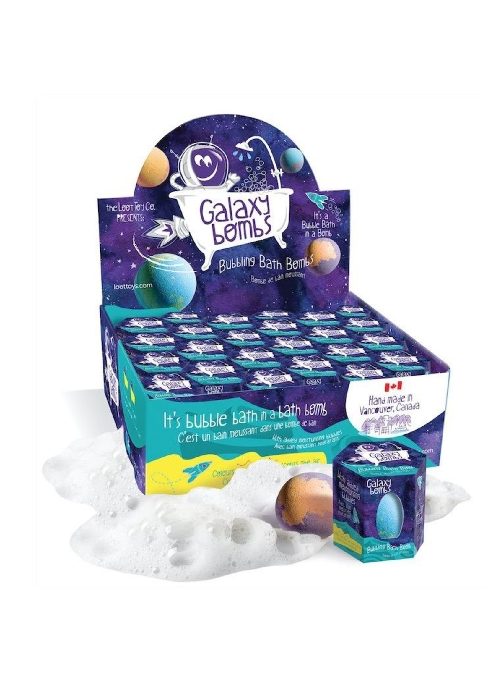 Loot Toys Loot Toys, Galaxy Bombs™, Scented Bubble Bath Bomb