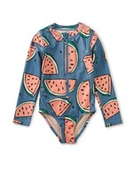 Tea Collection Tea Collection, Watermelon Long Sleeve One-Piece Swimsuit