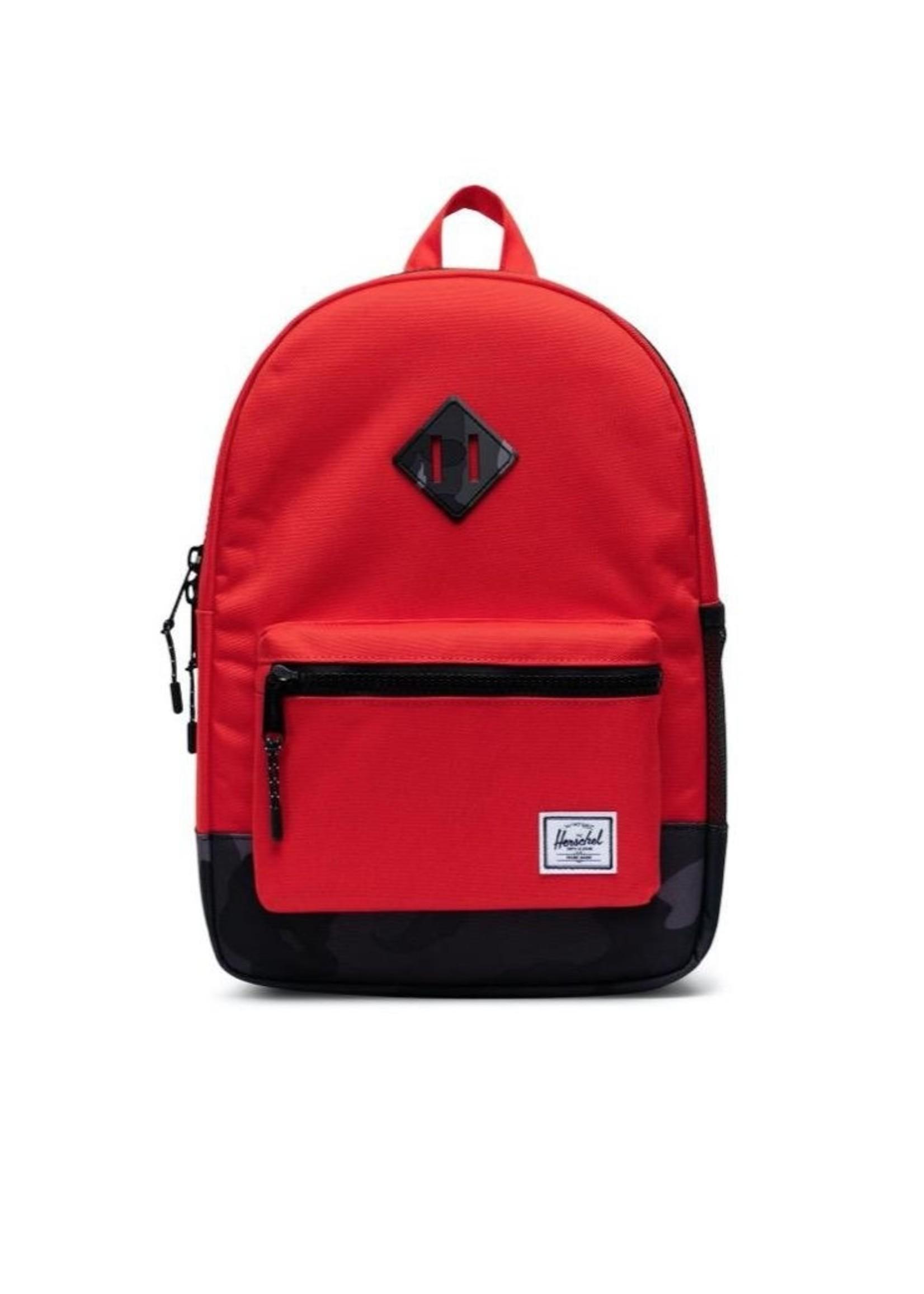 Herschel Supply Co. Herschel Supply, Heritage Backpack | Youth, Fiery Red/Night Camo, 16L