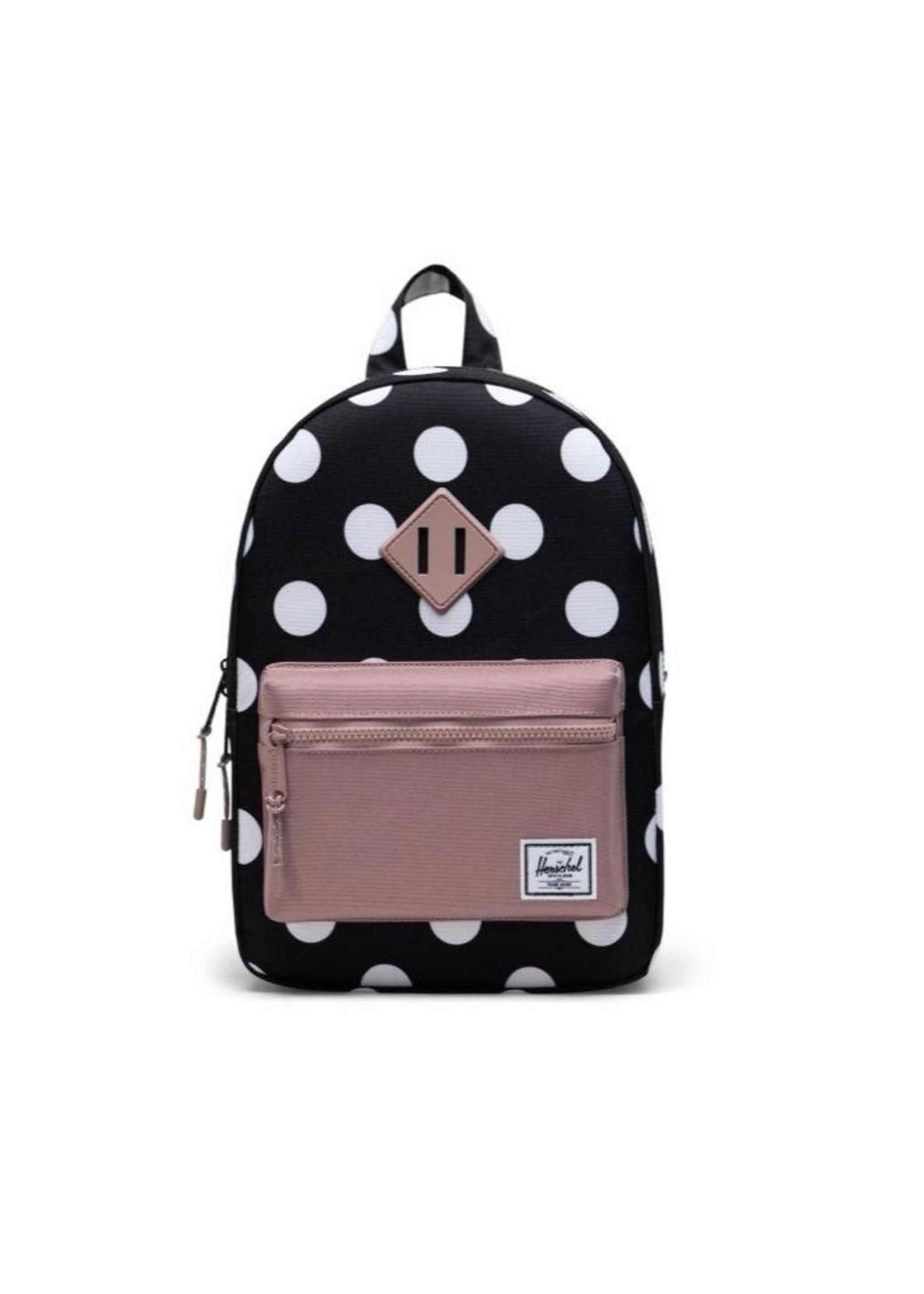 Herschel Supply Co. Heritage Backpack | Kids, Polka Dot Black and White/Ash Rose, 9L