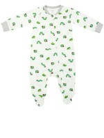 Nest Designs Eric Carle Bamboo  Zip Footed Sleeper  Curly Caterpillar