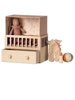 Maileg Maileg, Baby room set with micro bunny
