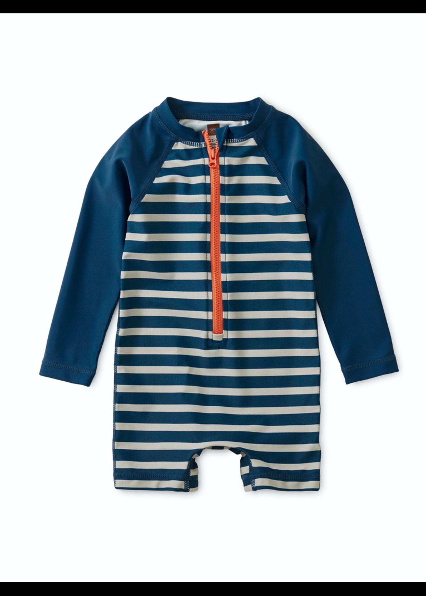 Tea Collection Tea Collection, Striped Zip Rash Guard for Baby Boy
