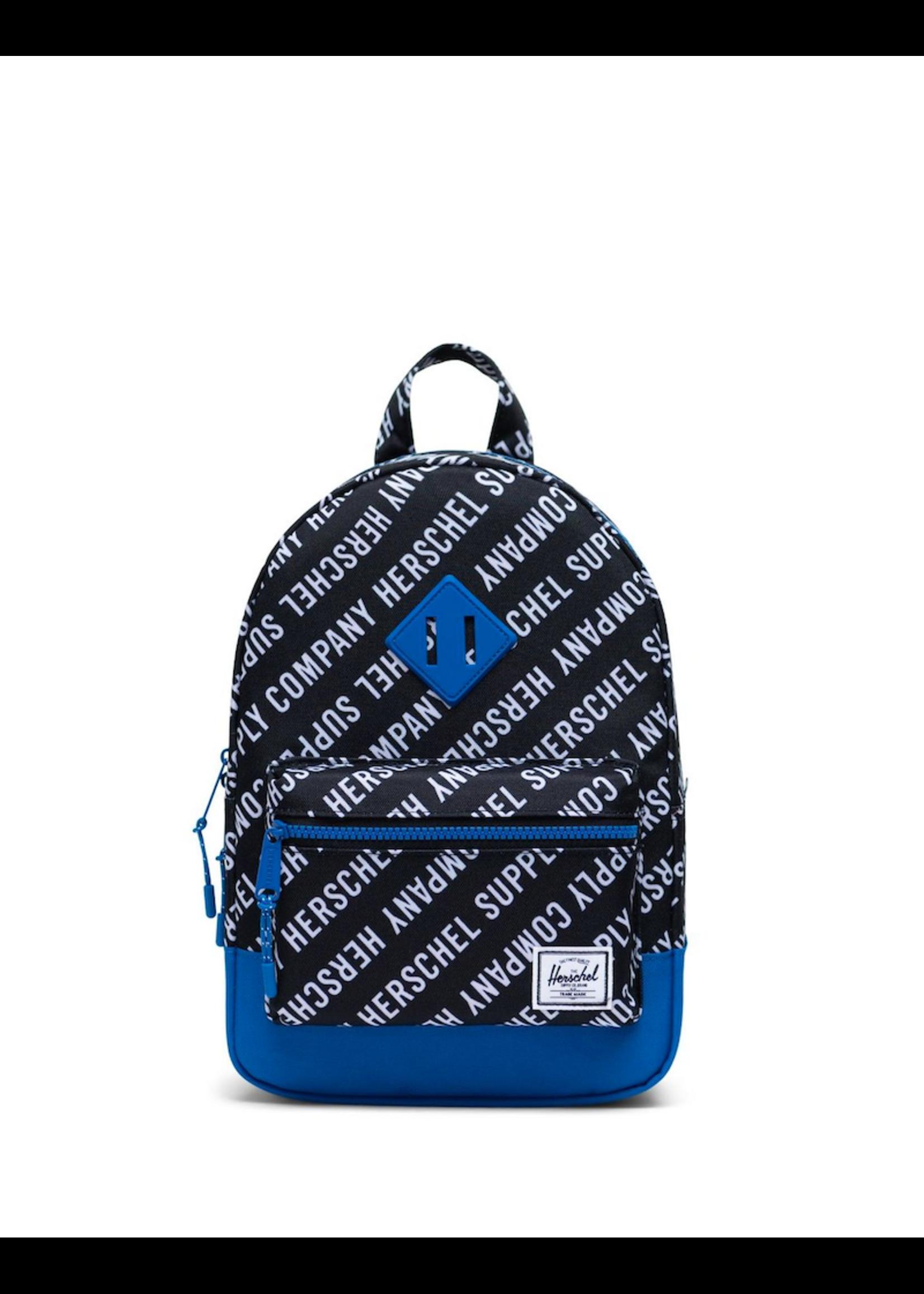 Herschel Supply Co. Herschel Supply, Heritage Backpack   Kids, Roll Call Black/White/Lapis Blue, 9L