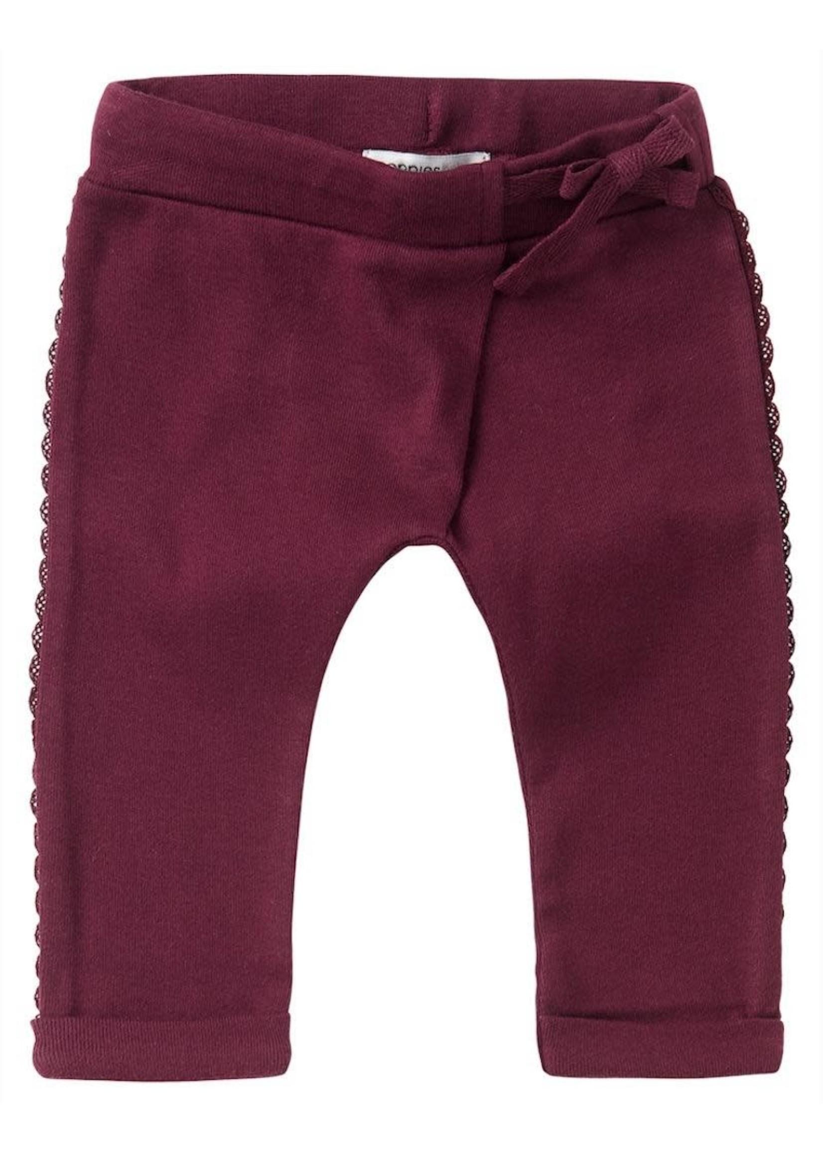 Noppies Kids Noppies Kids, Soekmekaar Baby Girl's Slim Fit Pants in Burgundy