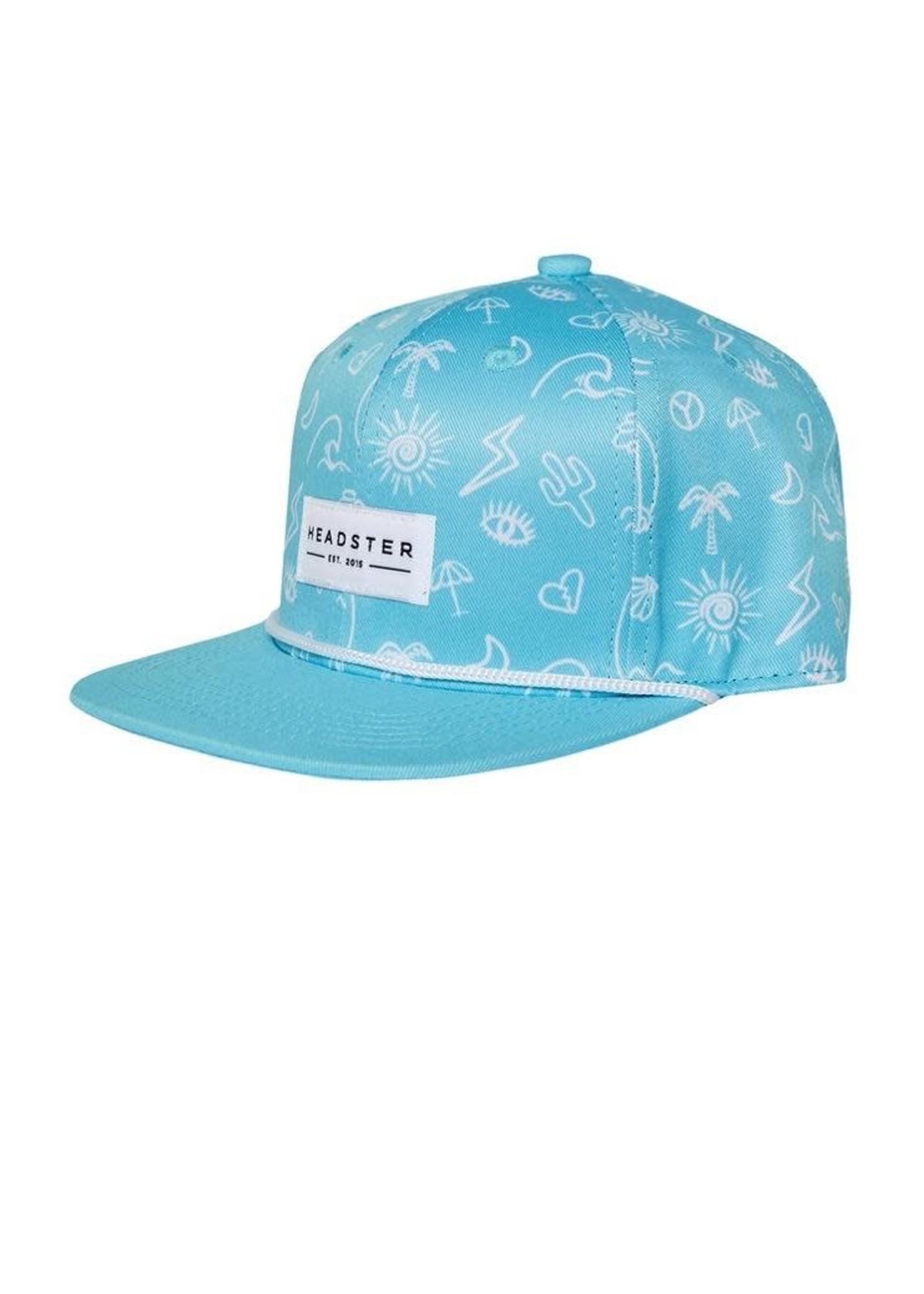 Headster Kids Headster Kids, Surf's Up Turquoise Adjustable Hat