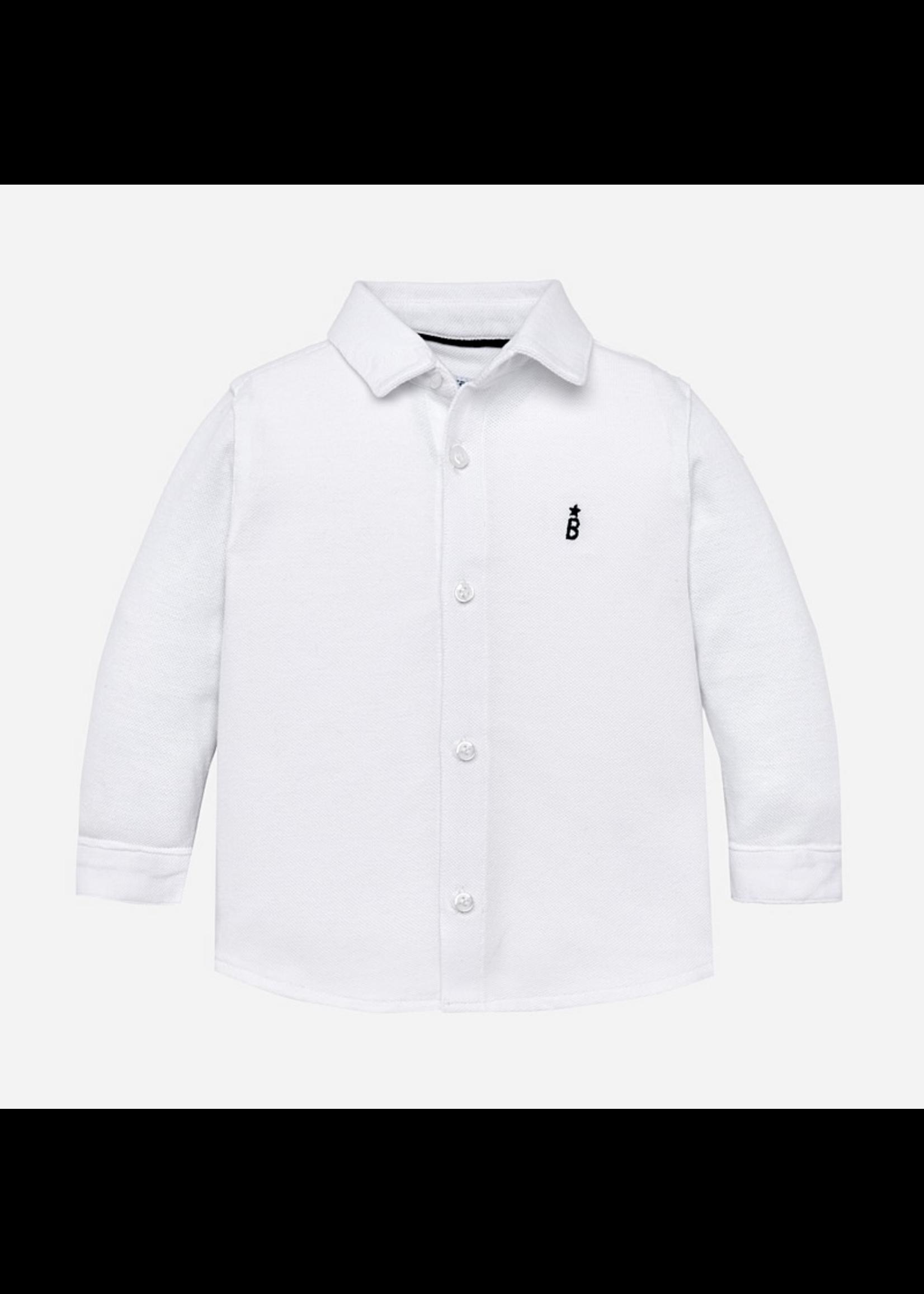 Mayoral Mayoral, Long Sleeved Collard Dress Shirt for Baby Boy