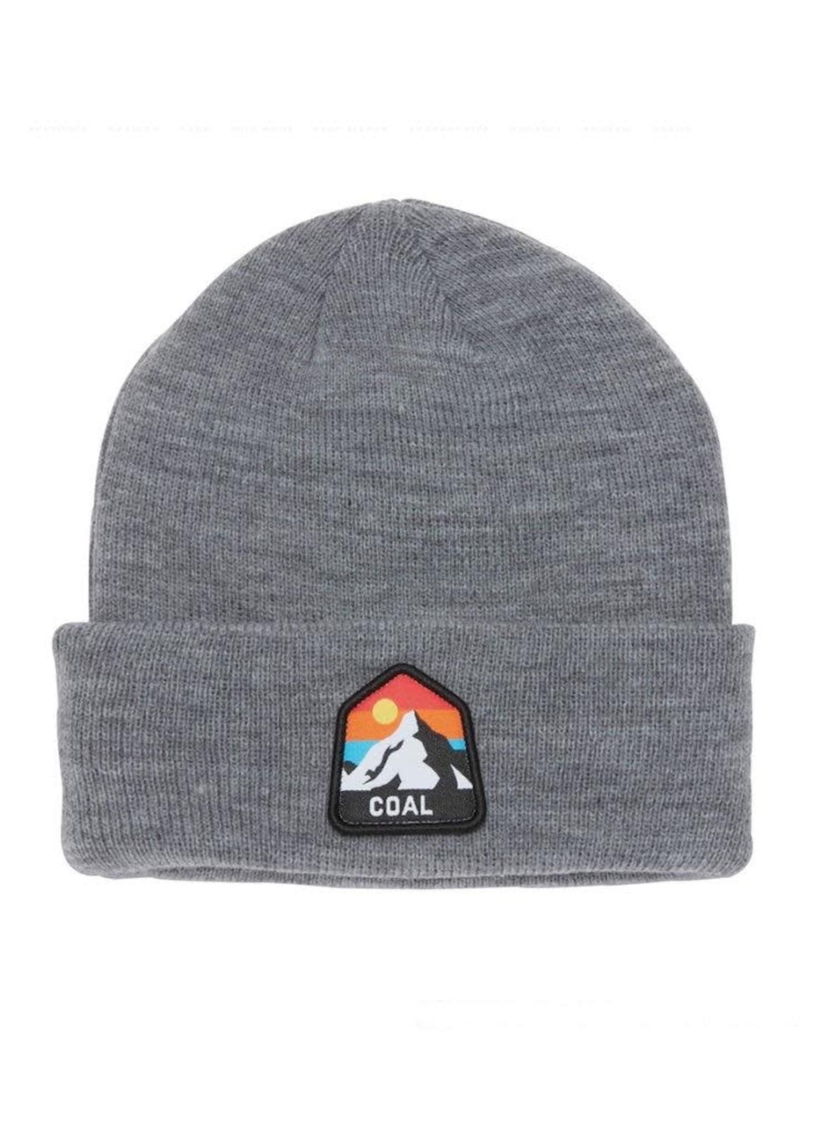 Coal Coal Headwear, The Peak Kids Cuffed Mountain Beanie in Grey