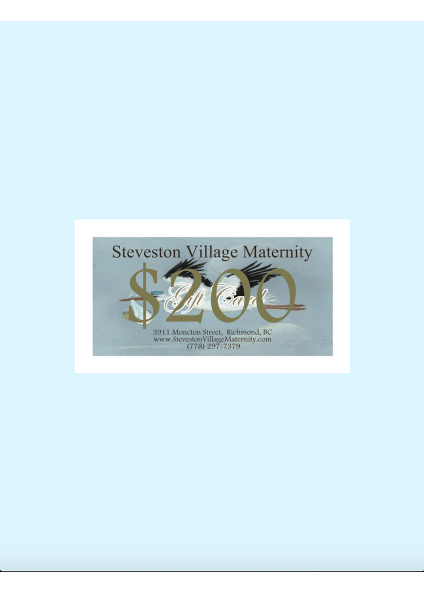 Gift Card $200 Gift Card