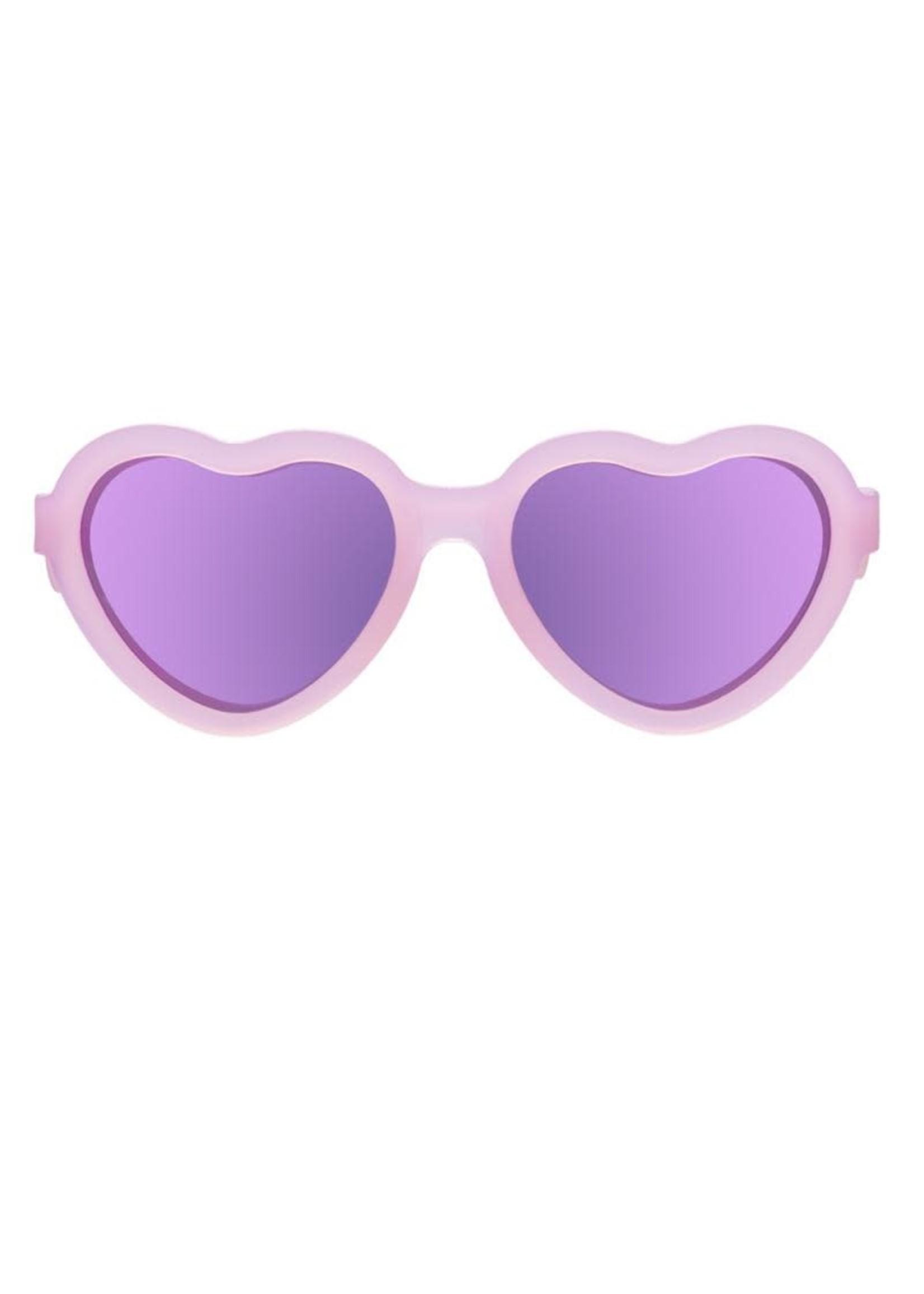 Babiators Babiators, The Influencer, Heart Polarized Sunglasses in Pink Transparent