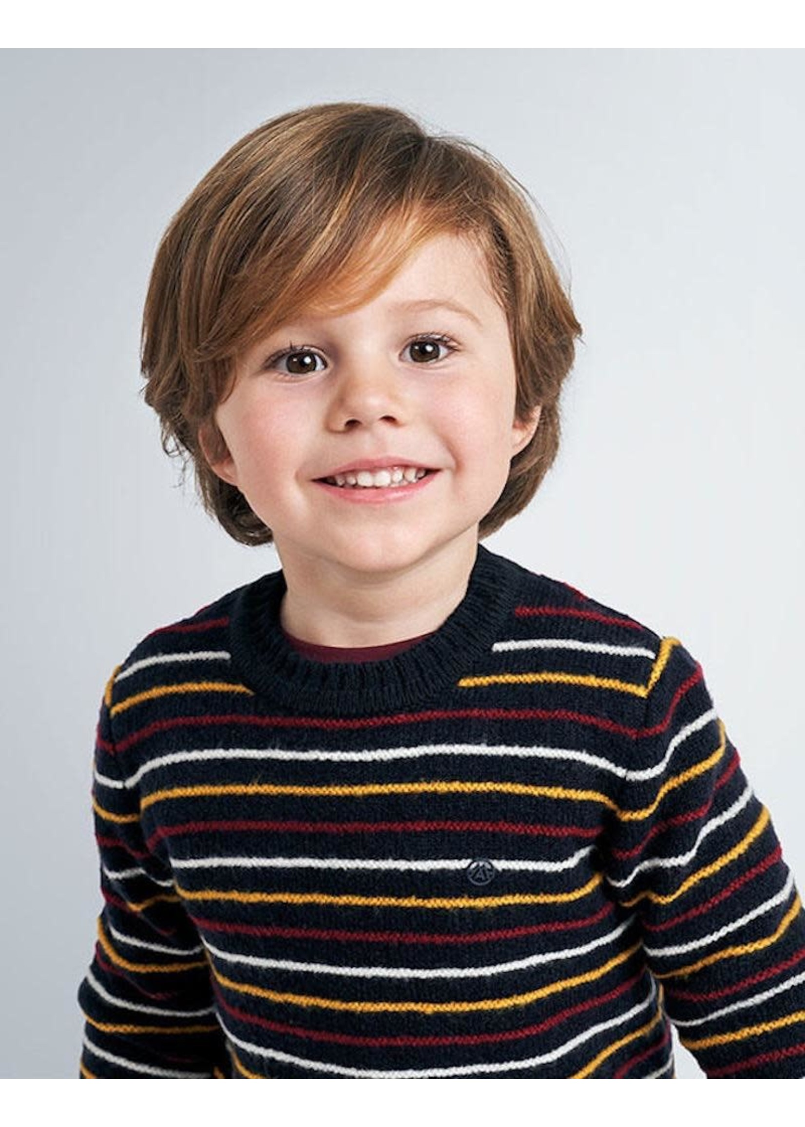 Mayoral Mayoral, Navy Blue Striped Sweater