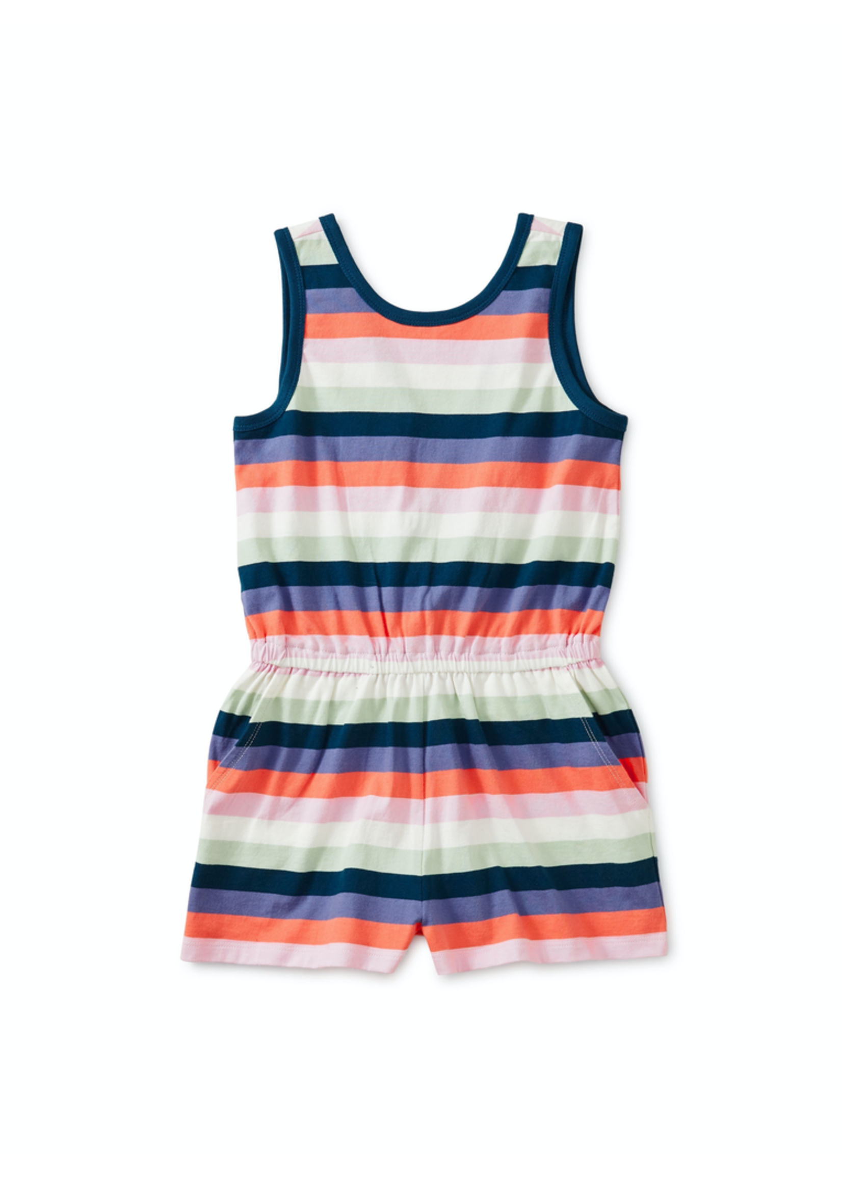 Tea Collection Tea Collection, Printed Wrap Back Romper for Girl - P-59408