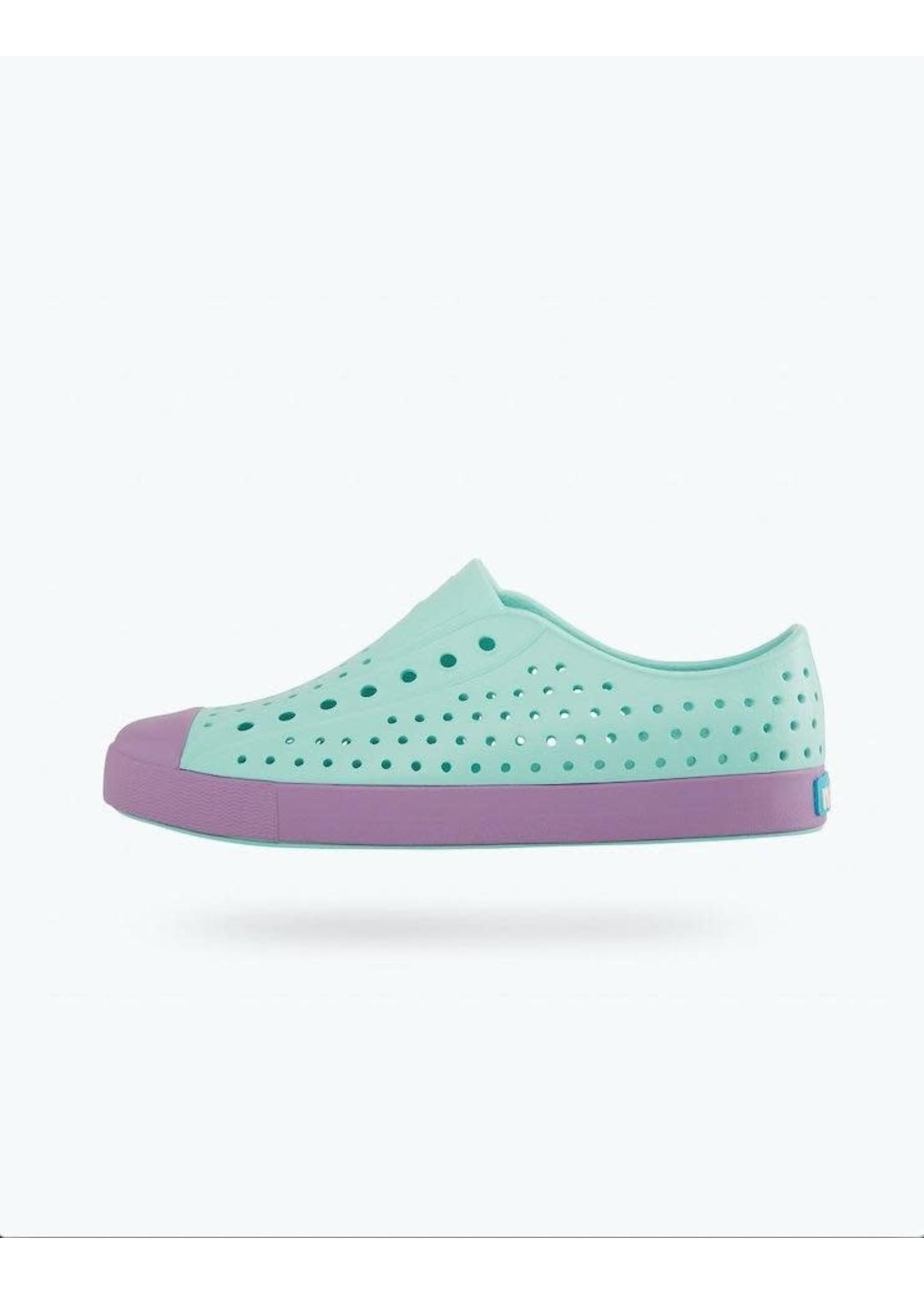 Native Shoes Native Shoes, Jefferson Youth / Junior in Piedmont Blue/ Sea Fan Purple
