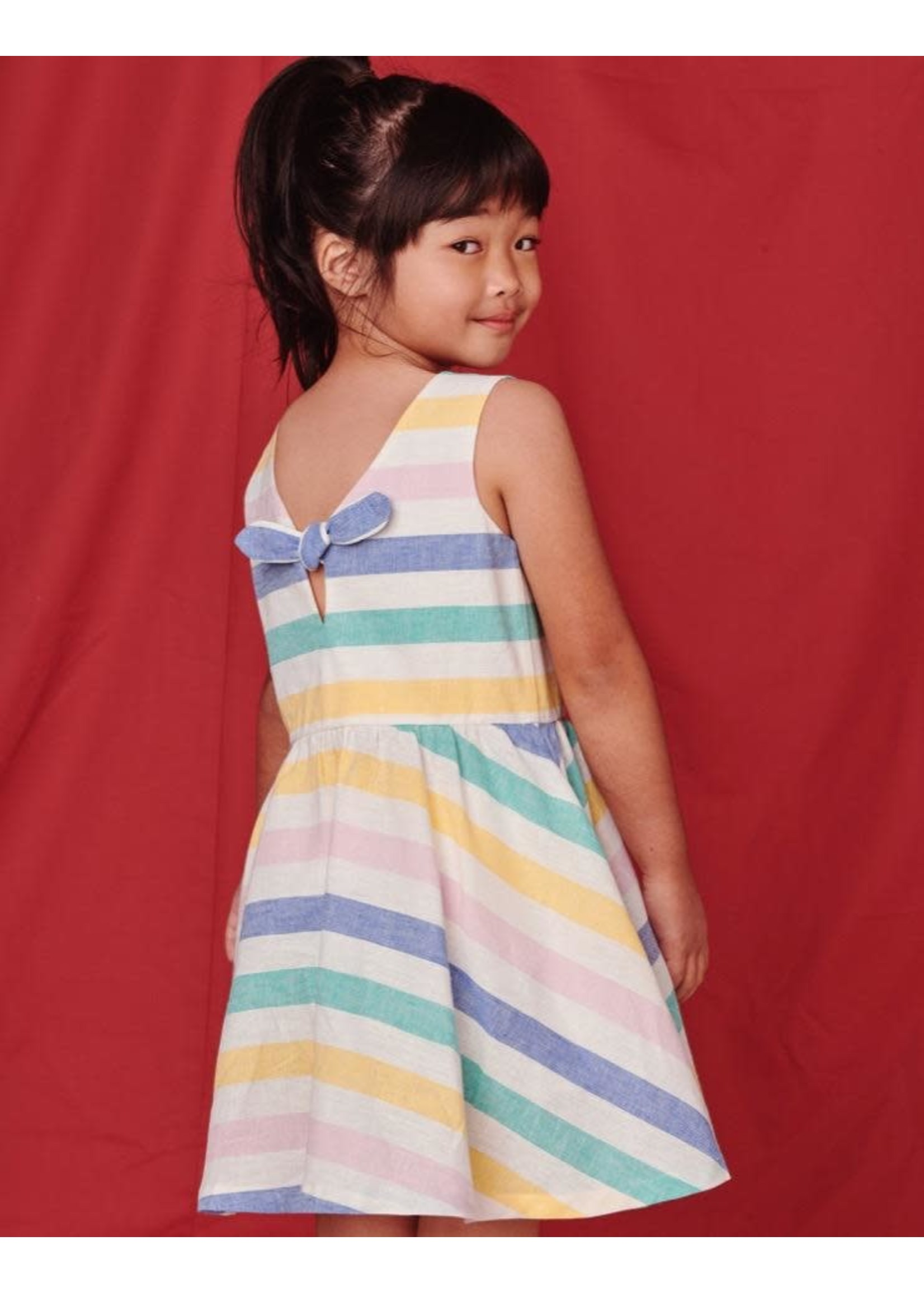 Tea Collection Tea Collection, Striped Bow Back Dress