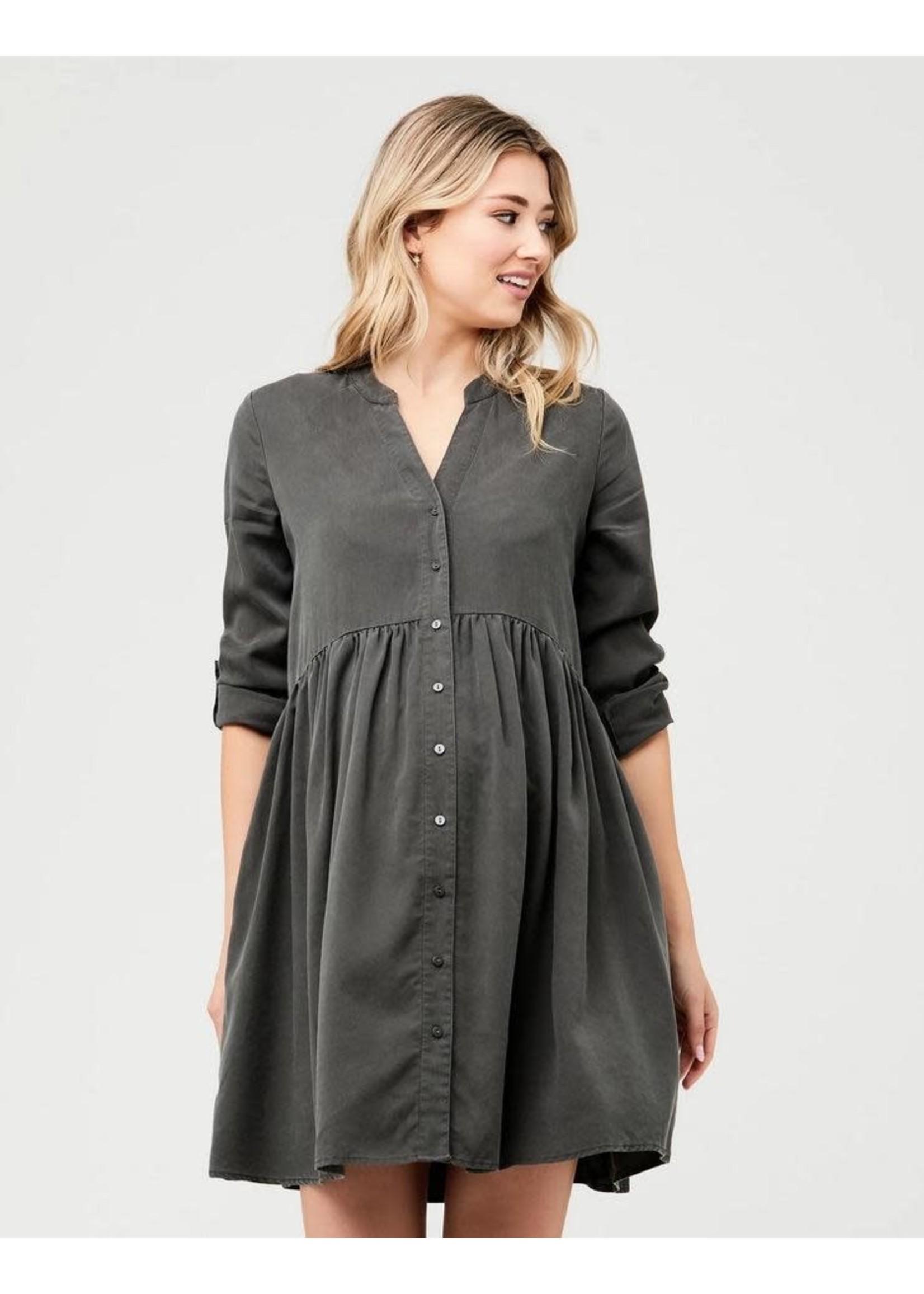 Ripe Maternity Ripe Maternity, Demi Tencel Dress in Olive