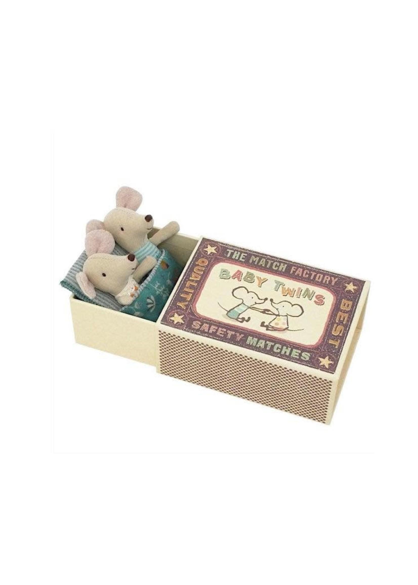 Maileg Maileg, Baby mice, Twins in matchbox