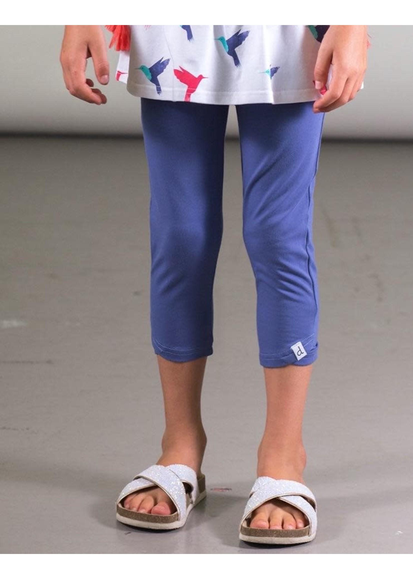Deux Par Deux Deux Par Deux, Organic Cotton Capri Legging in Blue