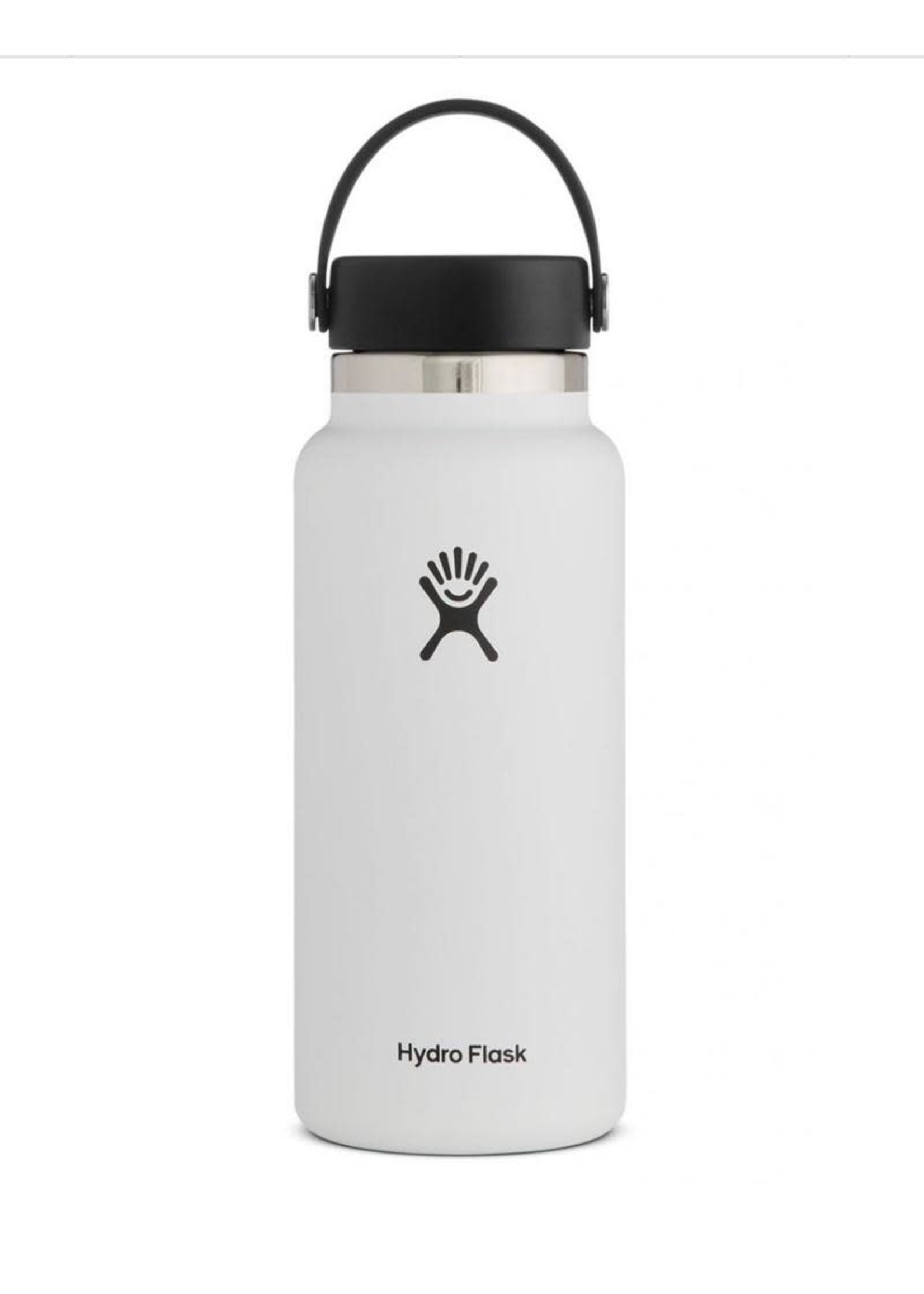 Hydro Flask Hydro Flask, 32 oz Wide Mouth 2.0  Flex Cap Insulated Stainless Steel Bottle in White