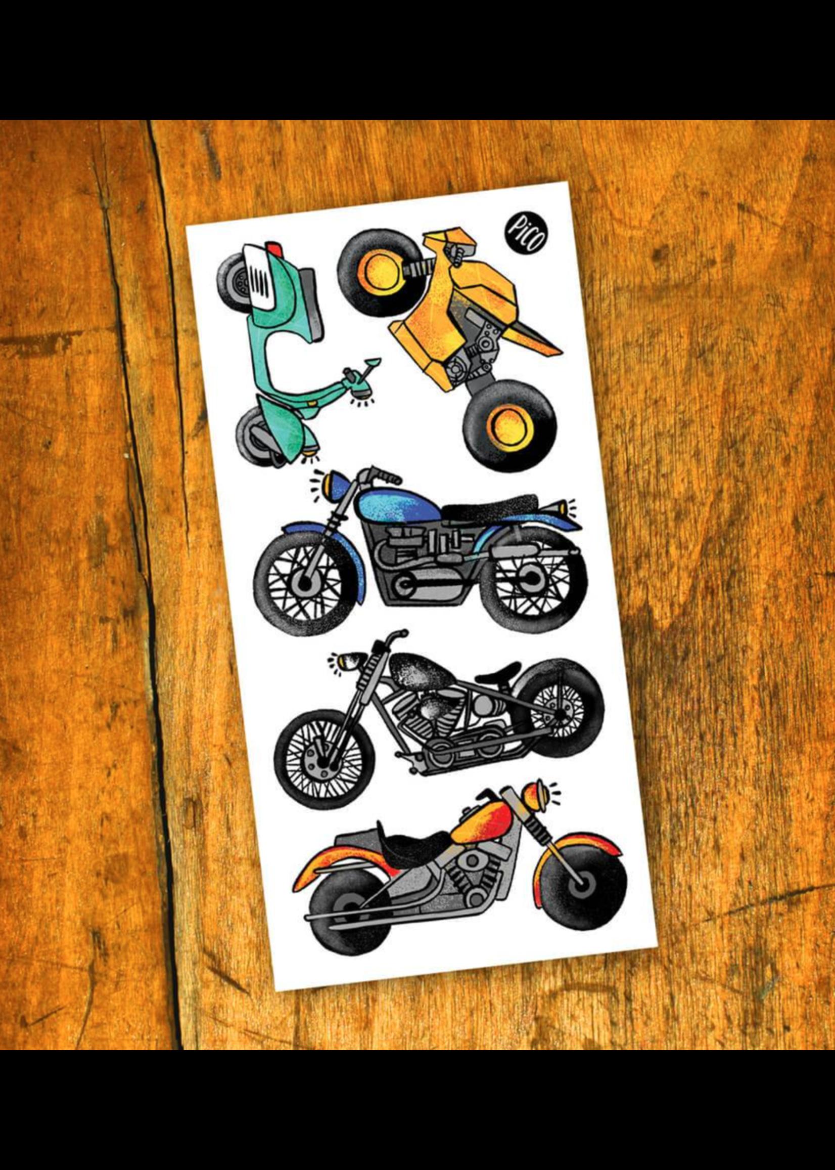 PiCO Tatoo Pico Temporary Tattoos, Motorcycle Love