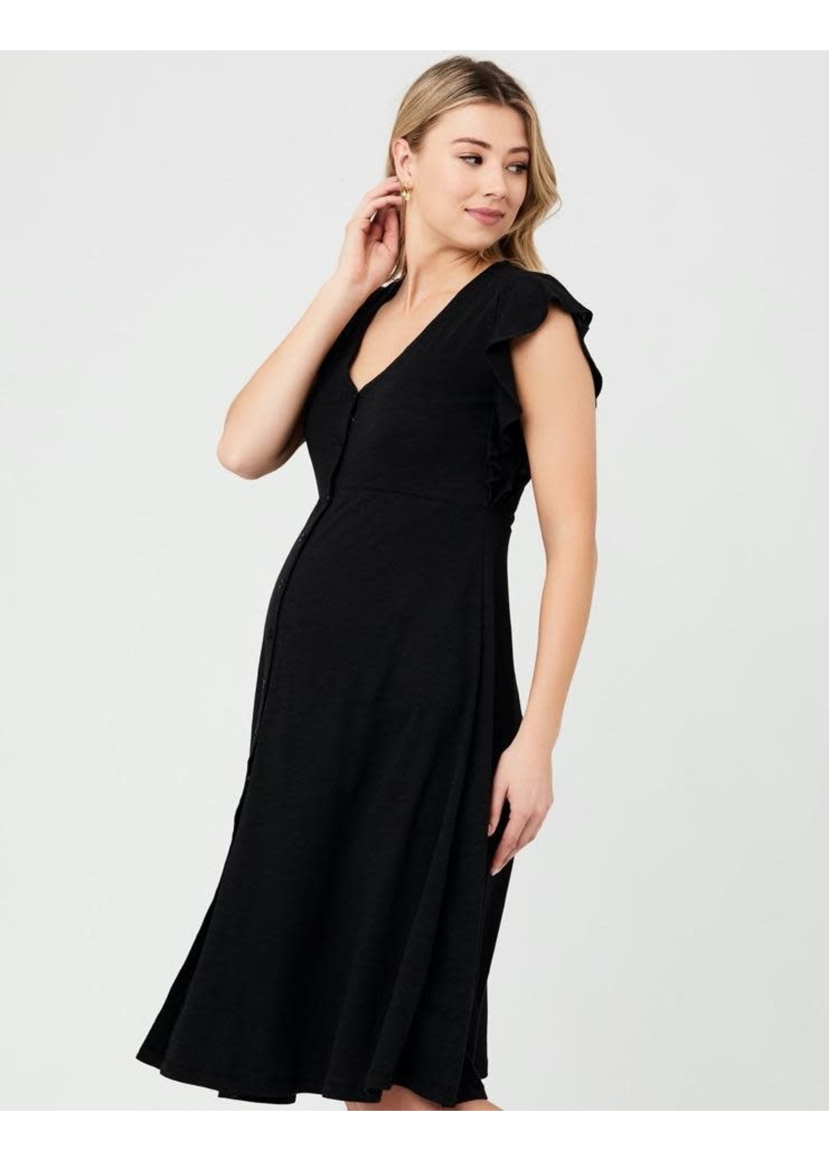 Ripe Maternity Ripe Maternity, Black Riva Button Through Dress