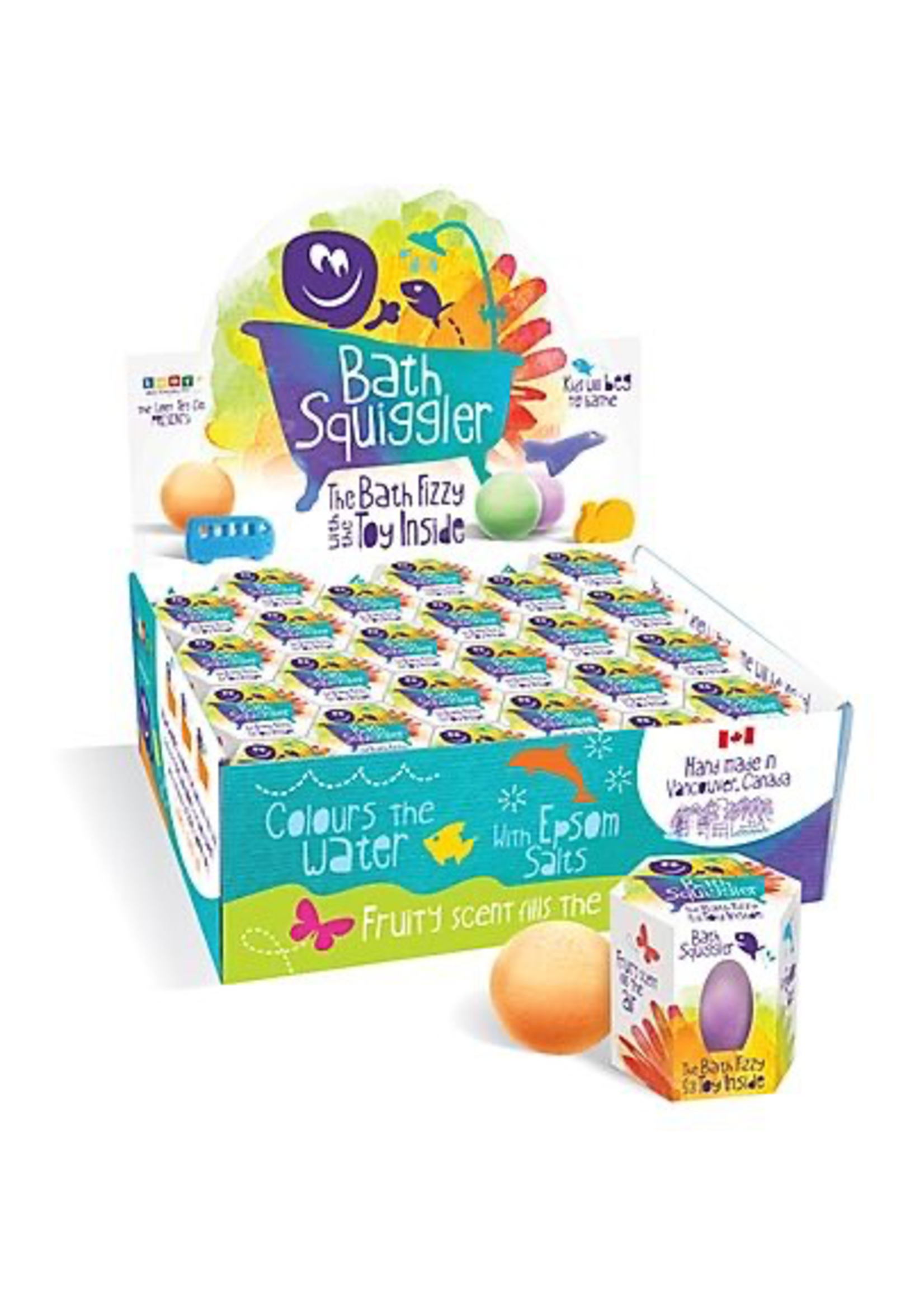 Bath Squigglers Loot Toys, Bath Squigglers, Bath Bomb Scented Fizzy with Hidden toy