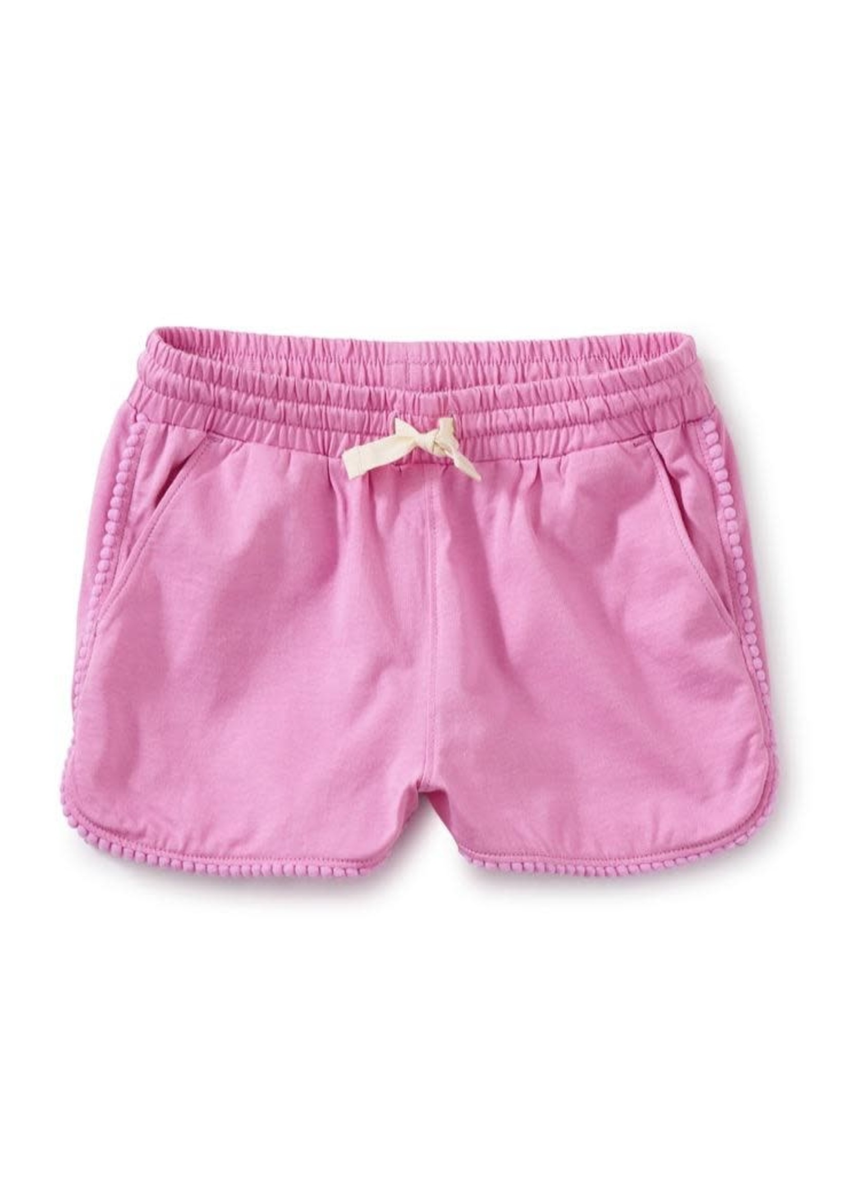 Tea Collection Pom-Pom Shorts in Perennial Pink