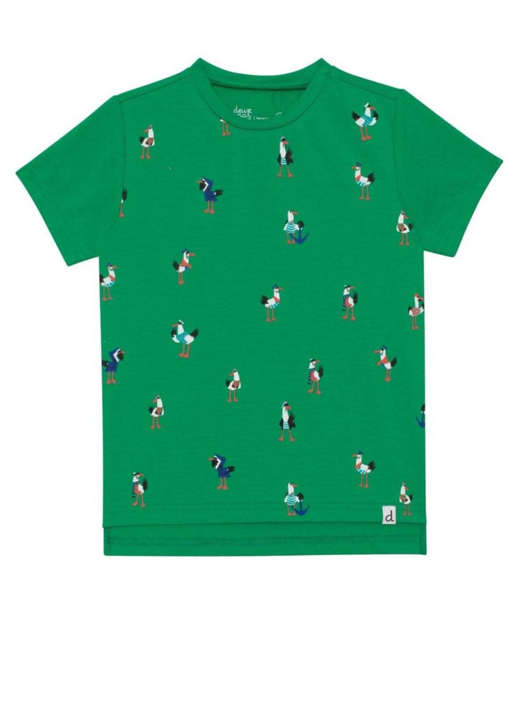 Deux Par Deux Deux Par Deux, Short Sleeve T-Shirt with Pelicans