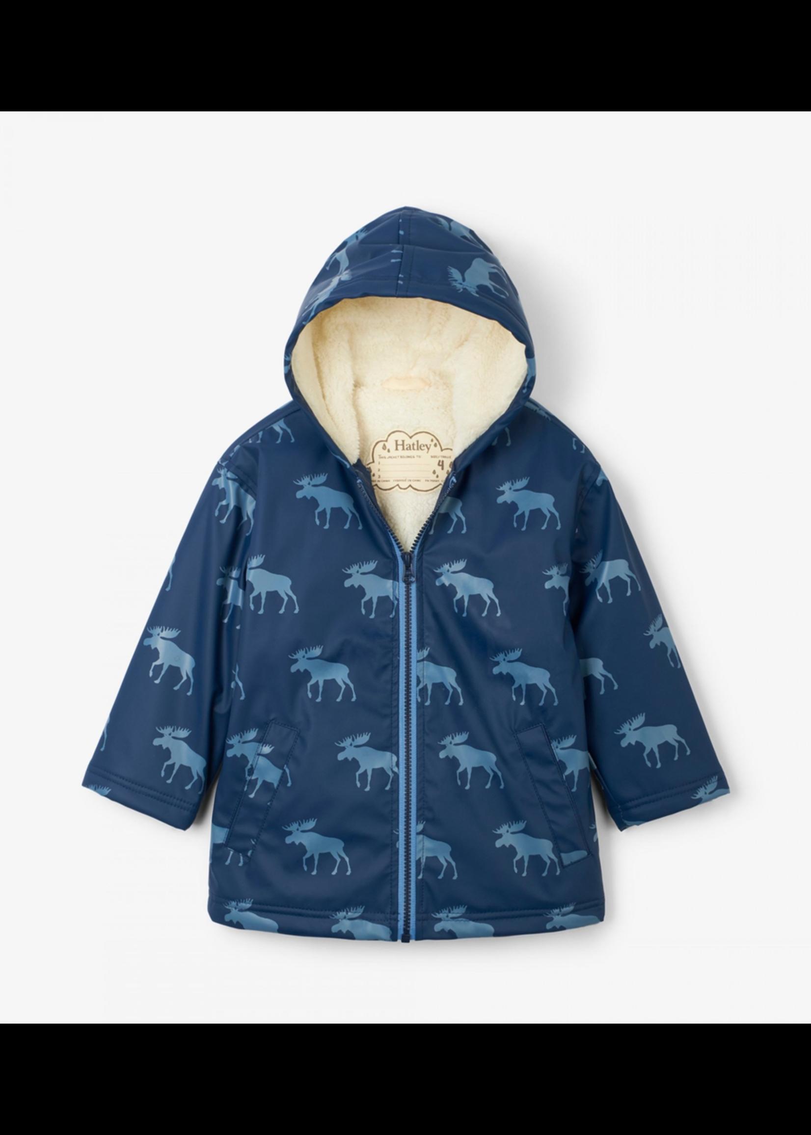 Hatley Hatley, Moose Silhouettes Sherpa Lined Splash Jacket for Boy
