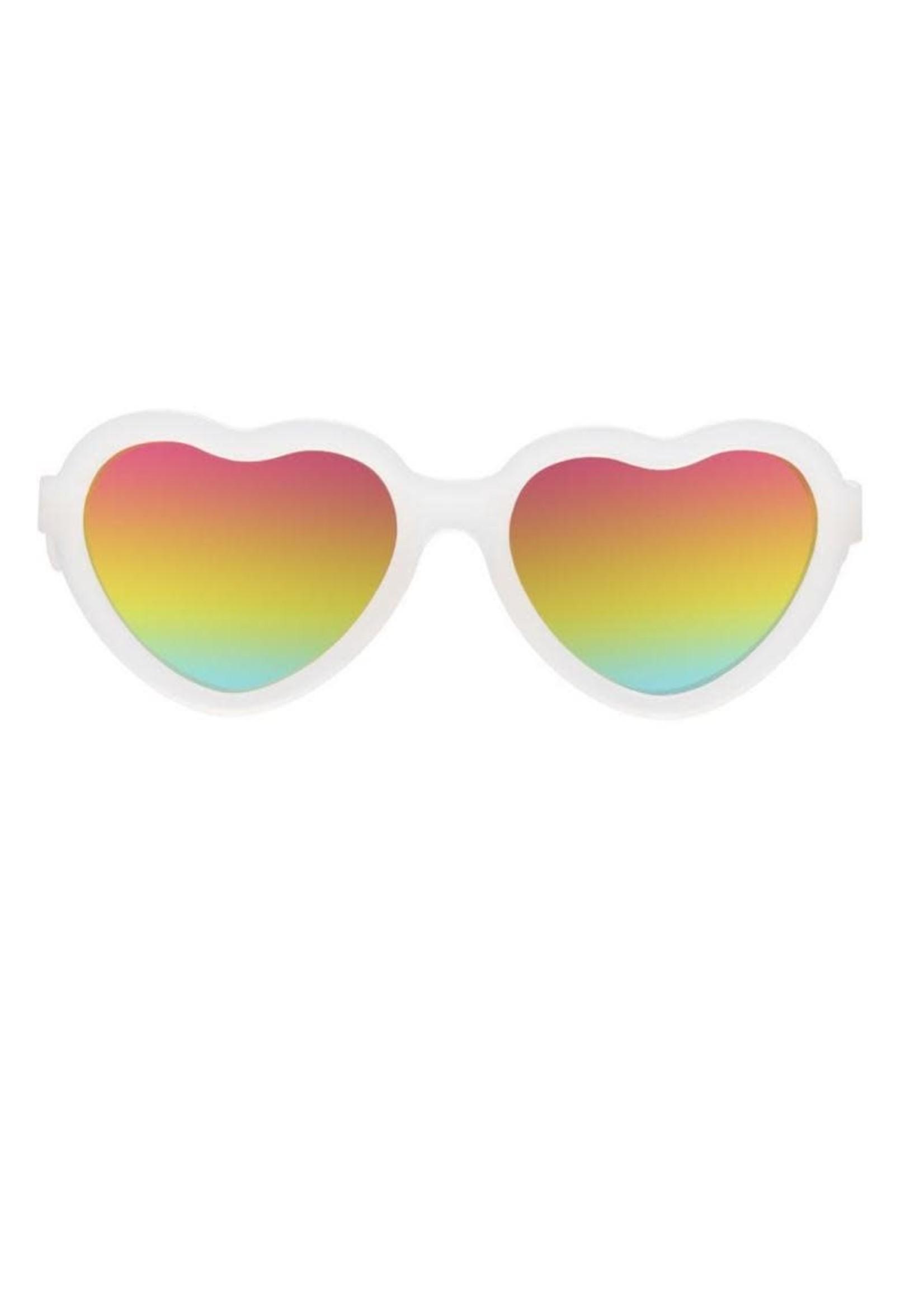 Babiators Babiators, Sweethearts Transprent Sunglasses w/ Rainbow Bright Lens
