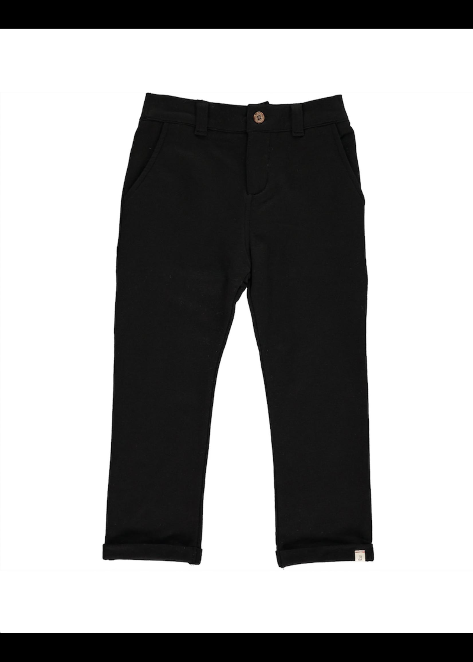 Me & Henry Me & Henry, Black Baby Jersey Pants