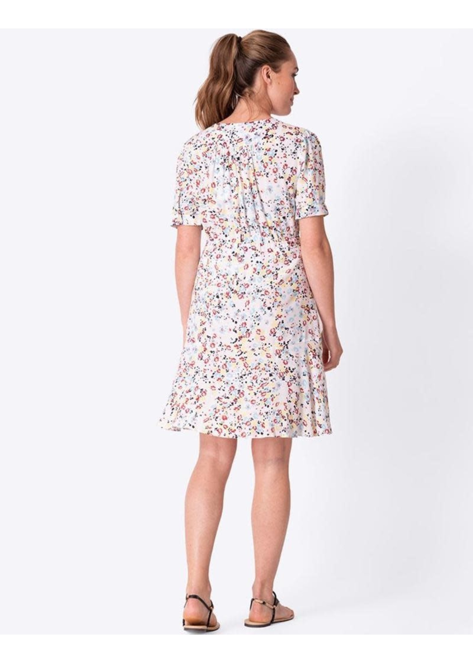 Seraphine Seraphine, Daffodil White Floral Front Tie Maternity Dress