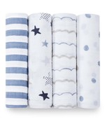 """Aden + Anais Rock Star  47"""" classic swaddle set 4-pack"""
