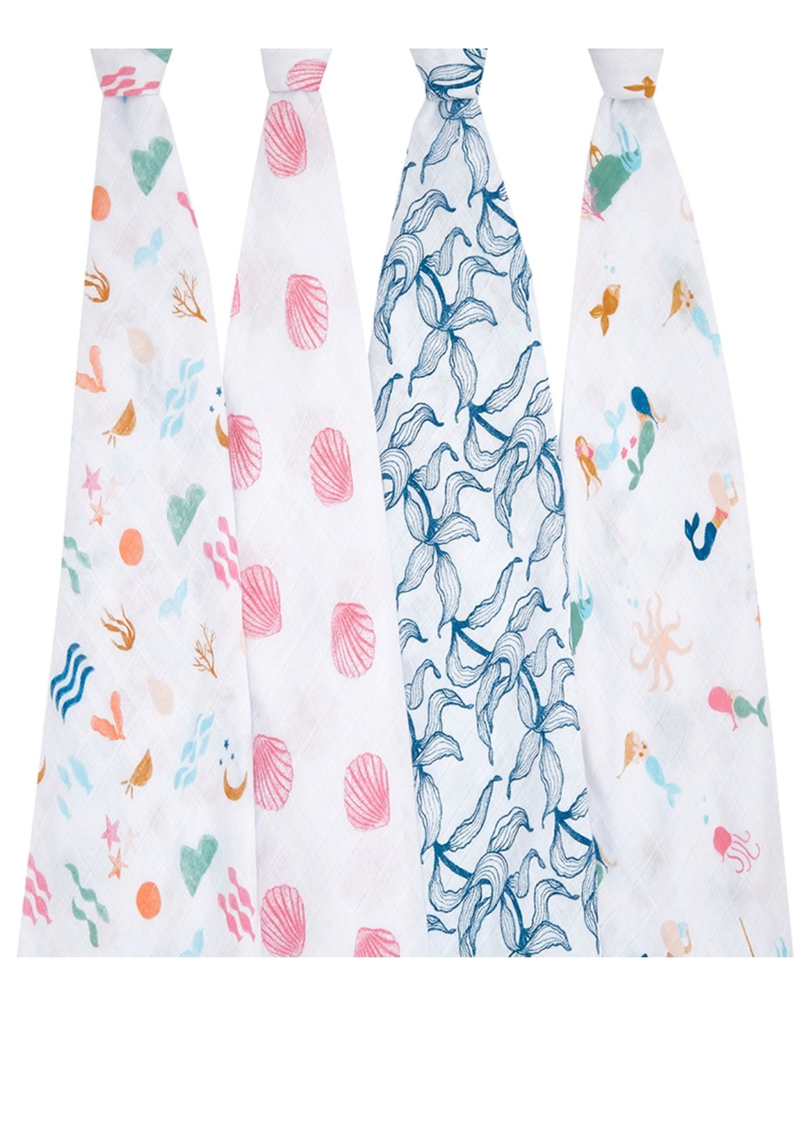 """Aden + Anais salty kisses  47"""" classic swaddle set 4-pack"""