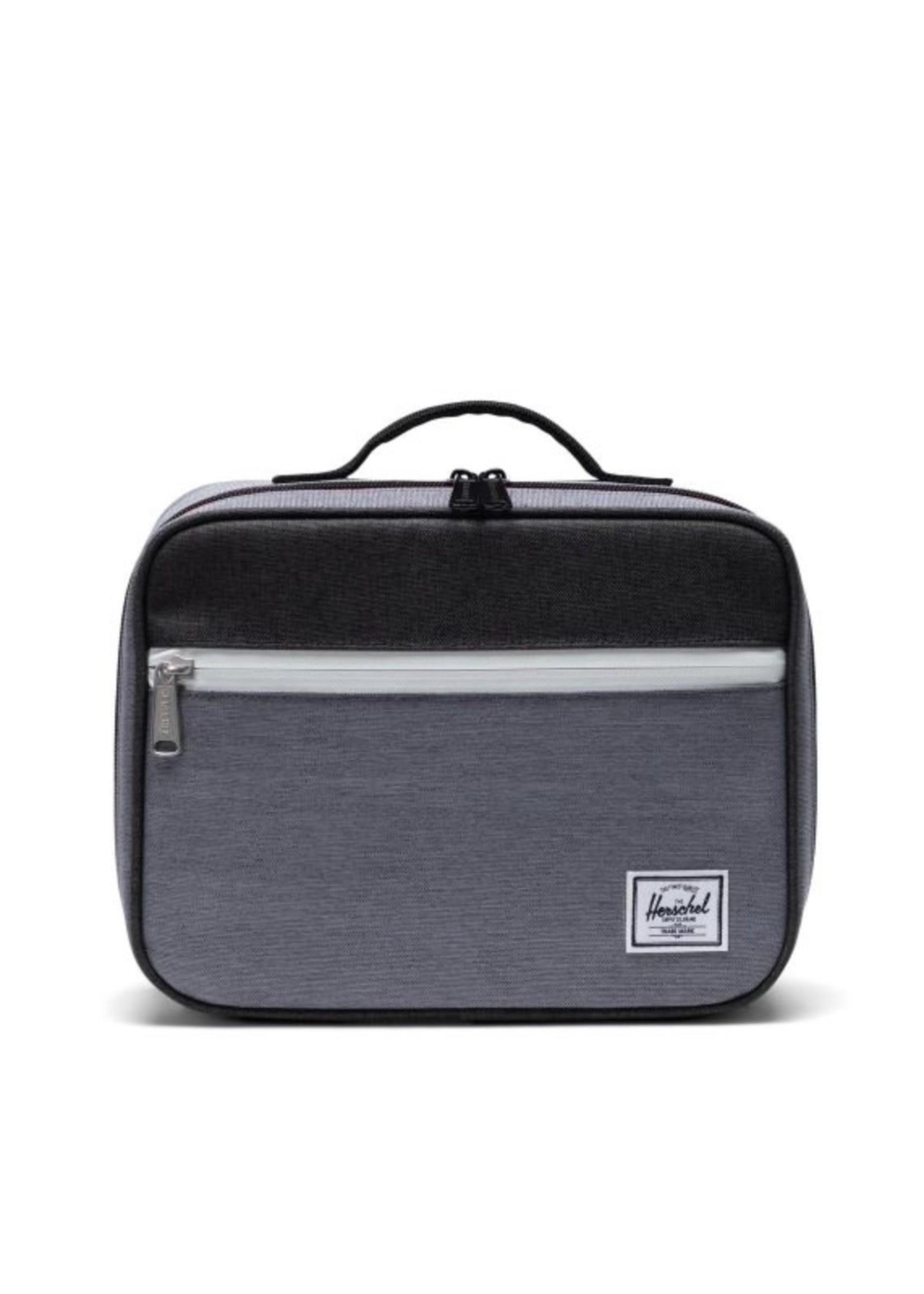 Herschel Supply Co. Pop Quiz Lunch Box   Insulated in Mid Grey Crosshatch/Black Crosshatch