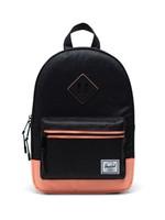 Herschel Supply Co. Heritage Backpack | Kids, Black Sparkle/Neon Peach, 9L