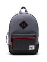 Herschel Supply Co. Heritage Backpack | Kids, Mid Grey Crosshatch/Black Crosshatch, 9L