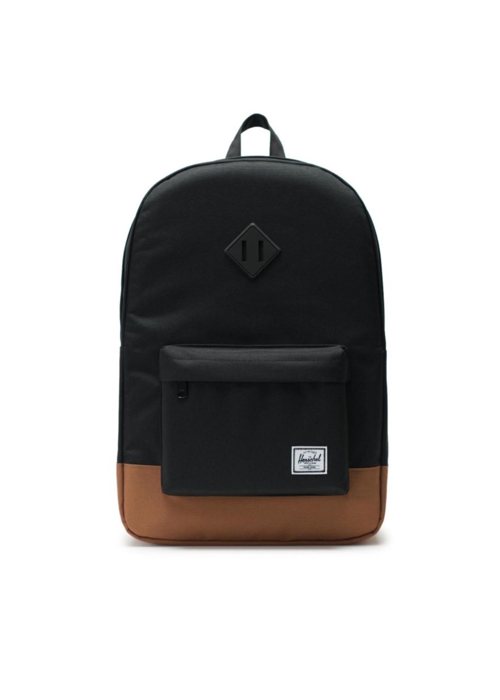 Herschel Supply Co. Heritage Backpack   Youth XL, Black/Saddle, 22L