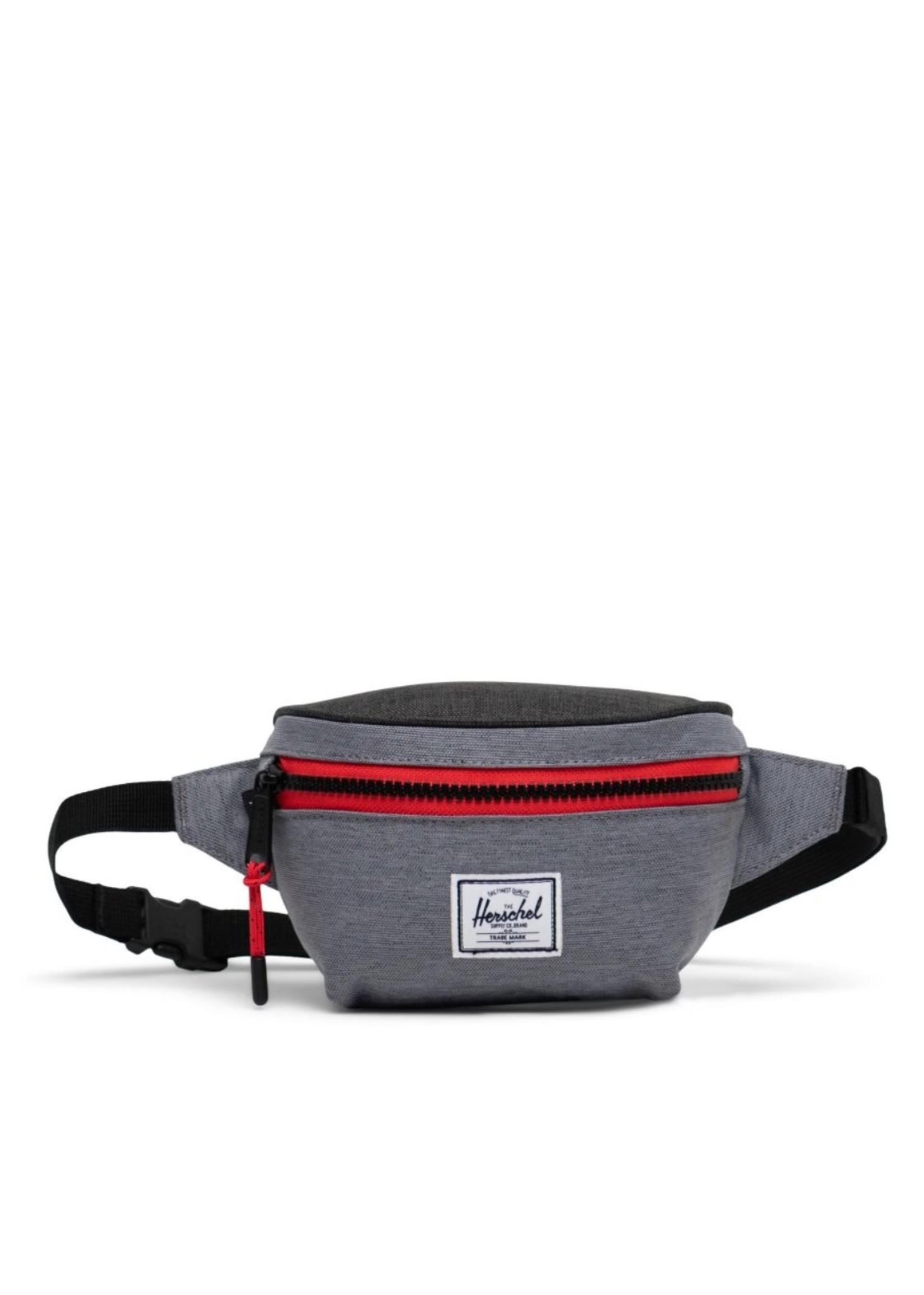 Herschel Supply Co. Twelve Hip Pack | Kids, Mid Grey Crosshatch/Black Crosshatch, 1L