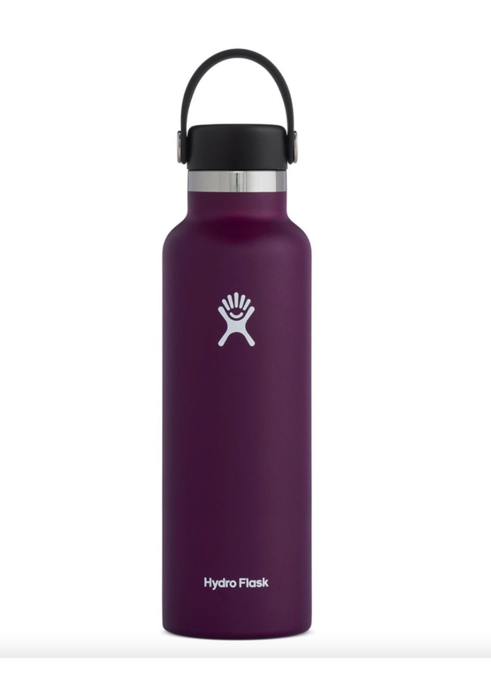 Hydro Flask Hydro Flask, 21 oz Standard Mouth Flex Cap Insulated Stainless Steel Bottle in Eggplant