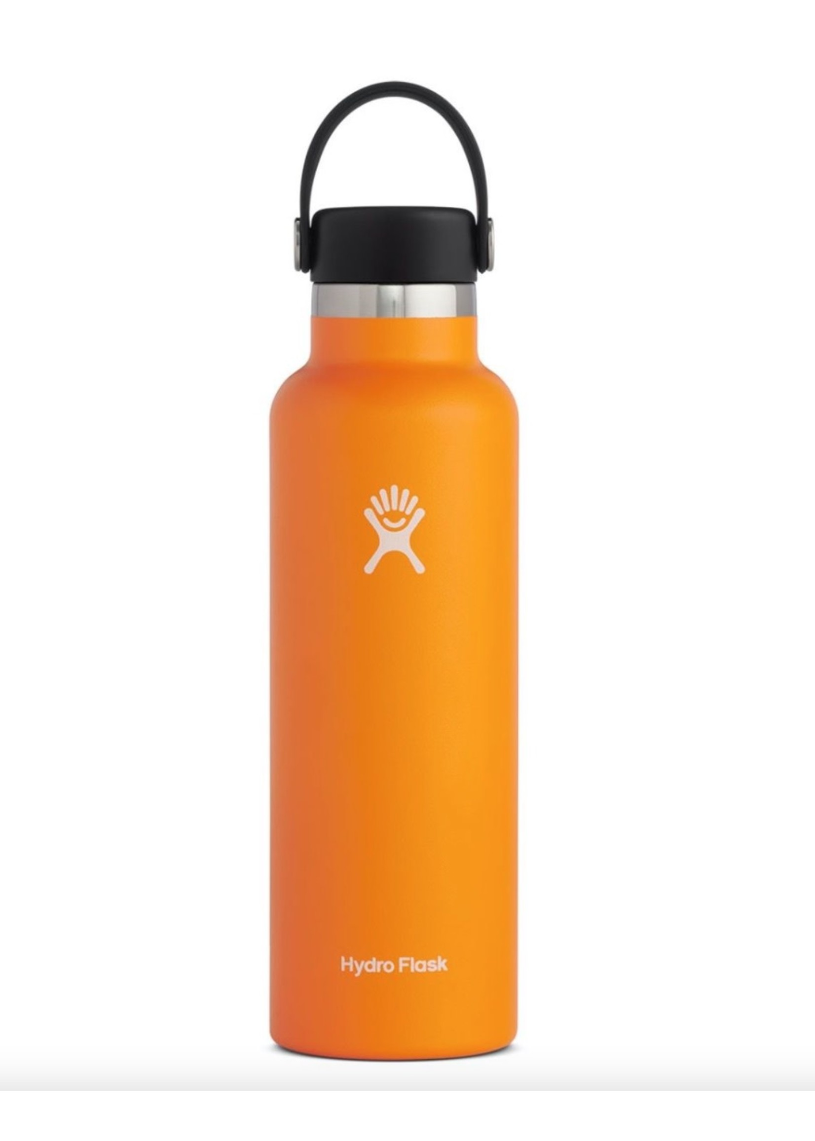 Hydro Flask Hydro Flask, 21 oz Standard Mouth Flex Cap Insulated Stainless Steel Bottle in Clementine