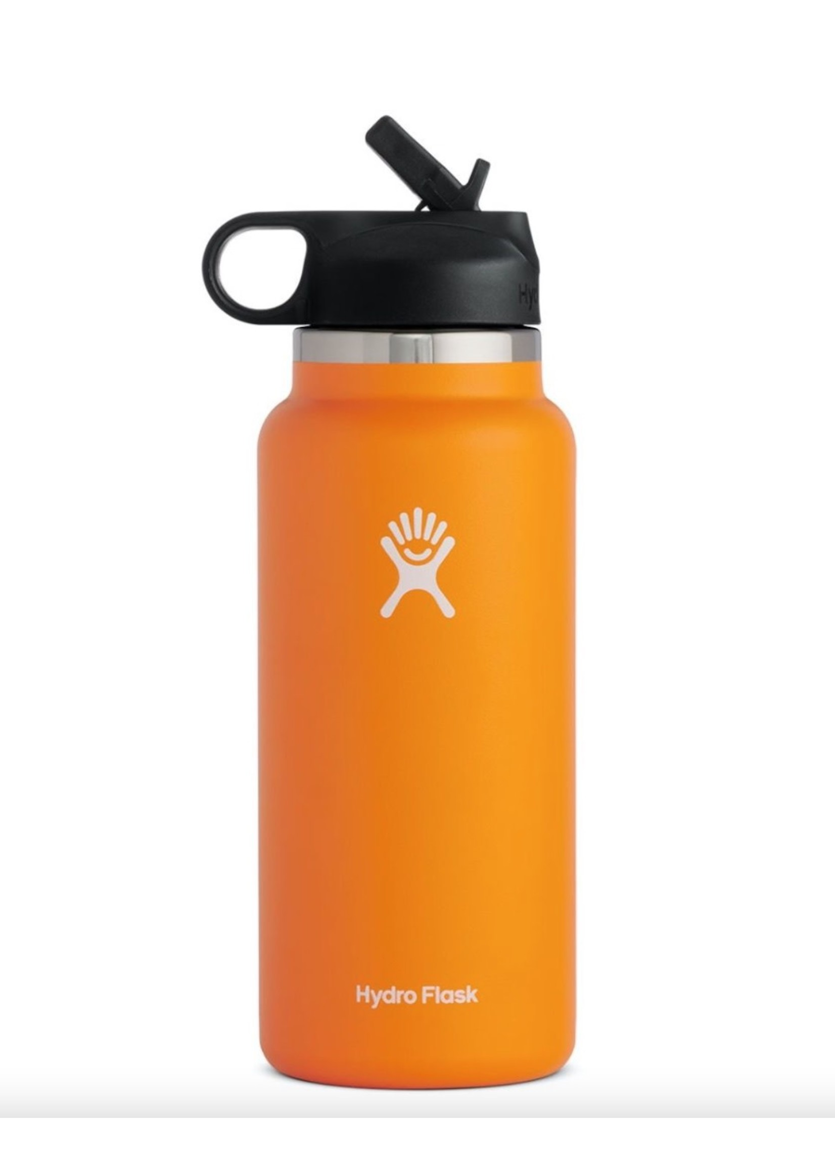 Hydro Flask 32 oz Wide Mouth 2.0  Flex Cap Insulated Stainless Steel Bottle in Clementine