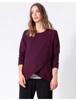 Seraphine Seraphine, Sybil, Crossover Maternity & Nursing Sweater In Burgundy