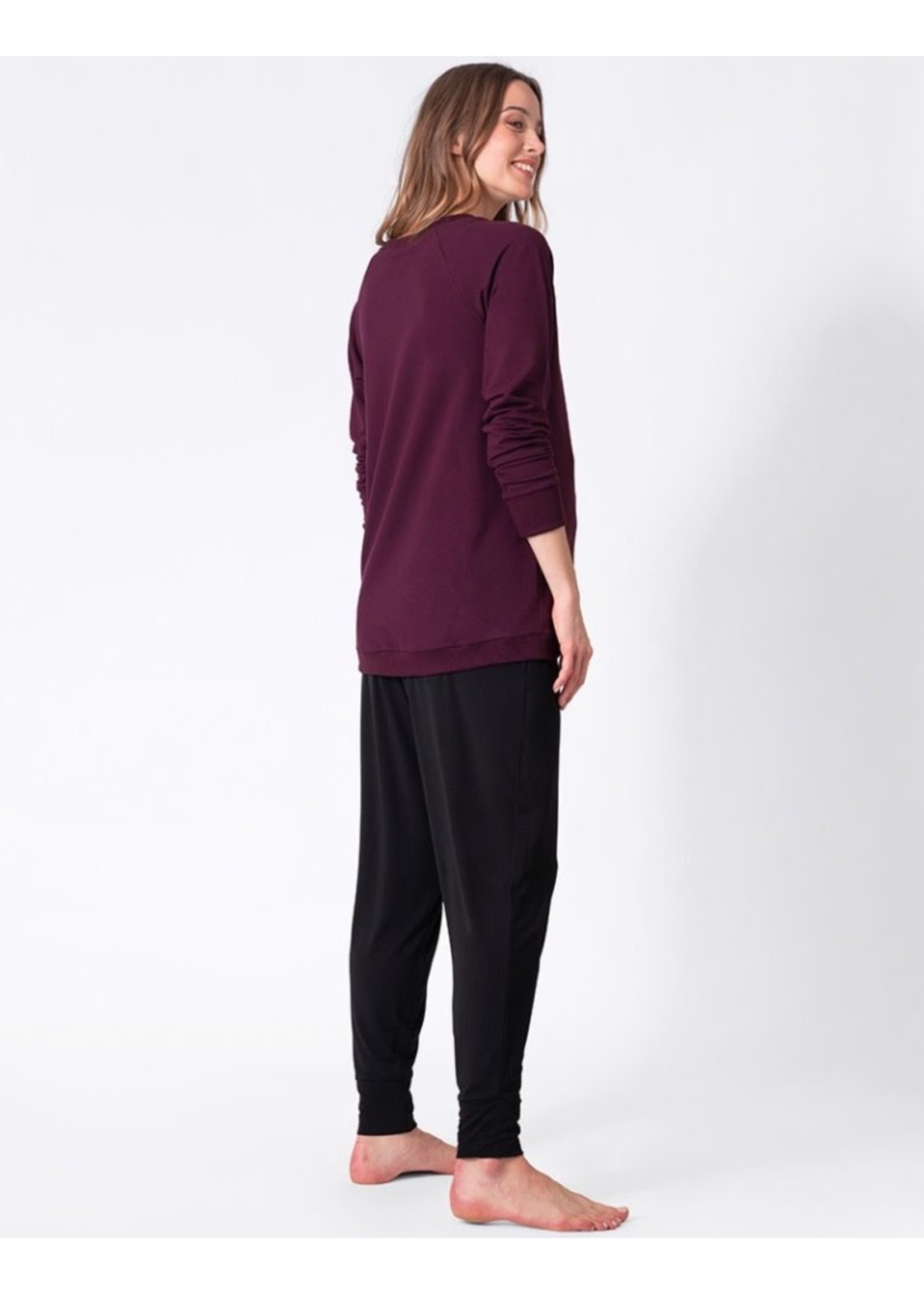 Seraphine Sybil, Crossover Maternity & Nursing Sweater In Burgundy