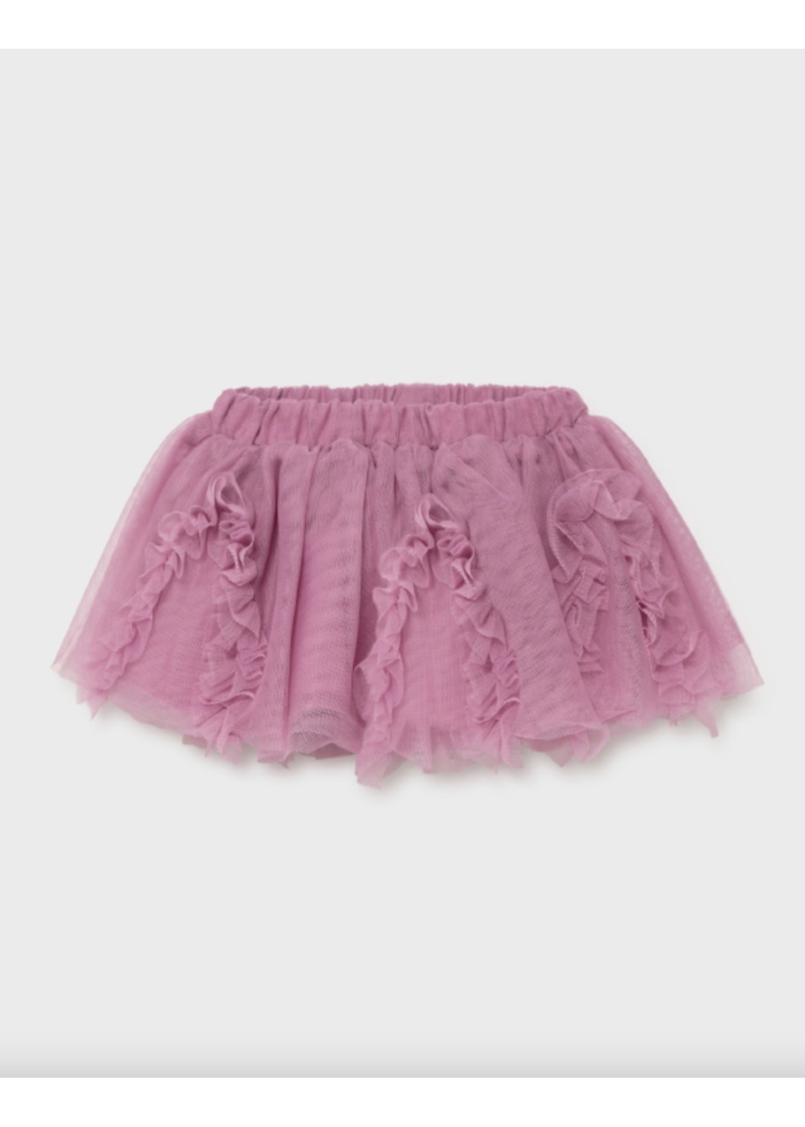Mayoral Mayoral, Tulle Baby Girl Skirt in Mauve