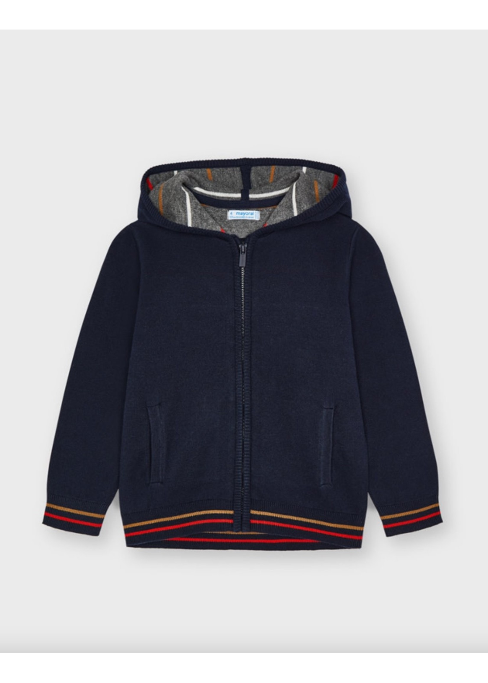 Mayoral Mayoral, ECOFRIENDS Woven Knit Jacket In Navy Blue