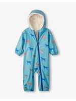 Hatley Friendly Labs Sherpa Lined Colour Changing Baby Bundler